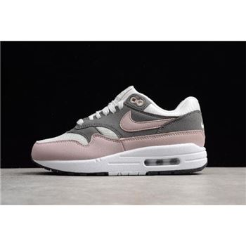 WMNS Nike Air Max 1 Vast Grey Particle Rose Gunsmoke Black