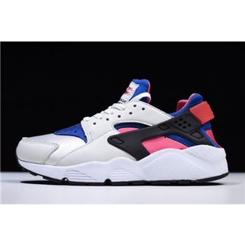 Womens Nike Air Huarache QS White Game Royal Black Dynamic Pink