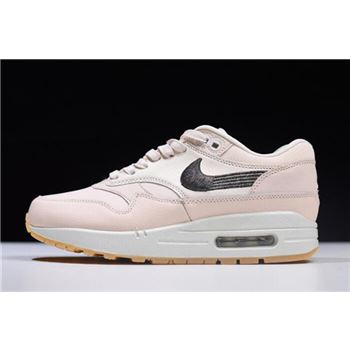 Women's Nike Air Max 1 Premium Guava Ice/Gum Yellow/Off-White 454746-800
