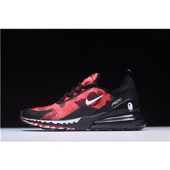 A Bathing APE x Nike Air Max 270 Red Camo Mens Size