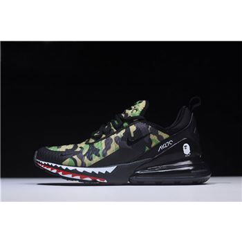 BAPE x Nike Air Max 270 Green Camo Mens Running Shoes