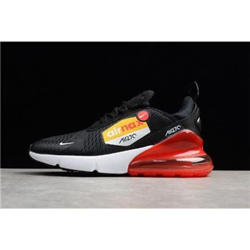 Mens Nike Air Max 270 BIG LOGO Black Yellow Red Running Shoes