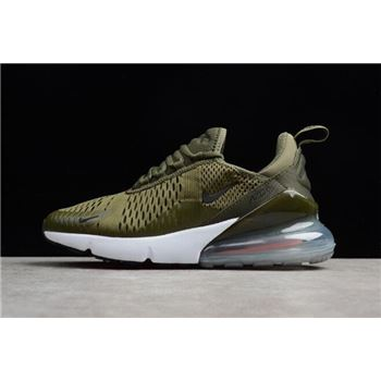 Mens Nike Air Max 270 Medium Olive Black Total Orange White