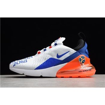 58efb1fd937e Men s Nike Max 270 FIFA World Cup Air Russia 2018 White Racer Blue-Orange