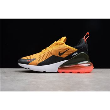 3cd728e7533c Men s Size Nike Air Max 270 Tiger Black University Gold-Hot Punch-White