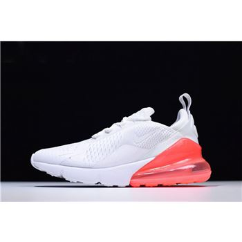 Mens and WMNS nike shox sneaker nz eu uk shoe sale today 270 White/Hot Punch Running Shoes AH8050-103