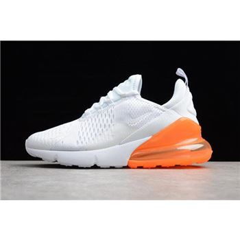 Mens and WMNS Nike Air Max 270 White Total Orange