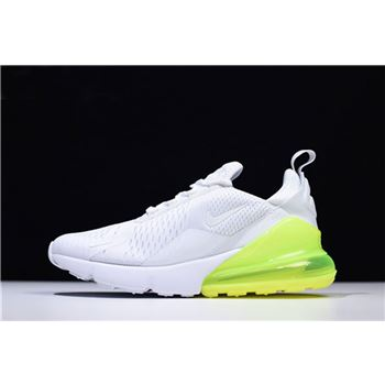 Mens and Womens Nike Air Max 270 White Volt Mens Running Shoes