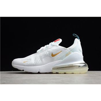 NIKE Air Max 270 Flyknit FIFA World Cup French Champion White Gold