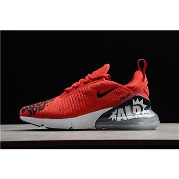 NIKEiD Air Max 270 iD Red Black White Mens Shoes