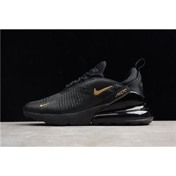 Nike Air Max 270 Black Gold AH8050 007 Mens Size Shoes
