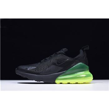 male nike green grey shoes clearance store 270 Black/Volt Men's Running Shoes AH8050-011
