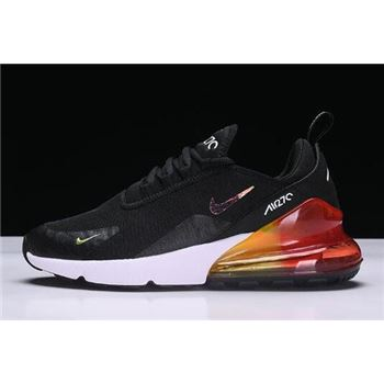Nike Air Max 270 Black White Red Running Shoes