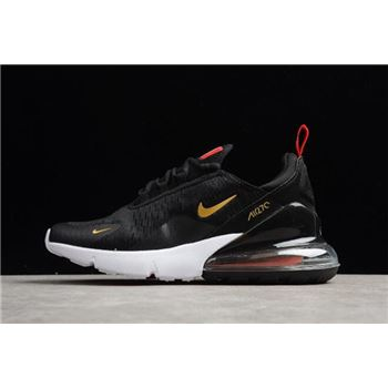 Nike Air Max 270 Flyknit 2018 FIFA World Cup French Black Gold