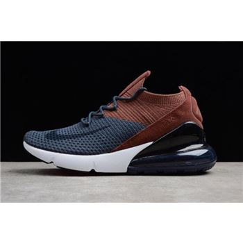 Nike Air Max 270 Flyknit Dark Blue Brown Black White Mens and Womens Size