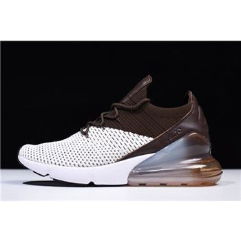 Nike Air Max 270 Flyknit Dark Hazel Light Bone White Dark Hazel