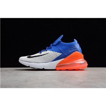 Nike Air Max 270 Flyknit Racer Blue Total Crimson