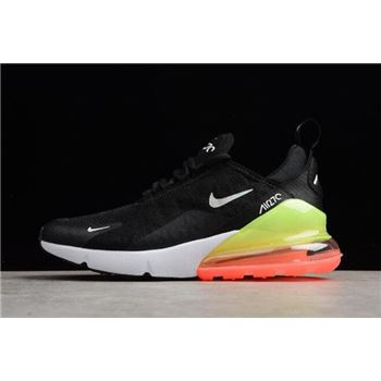 Nike Air Max 270 SE Black White Green Running Shoes