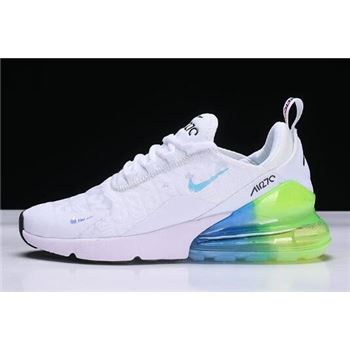 Nike Air Max 270 White Blue Green Black Running Shoes