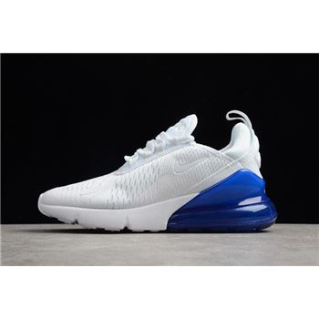 Mens and WMNS Nike Air Max 270 White/Photo Blue AH8050-105 For Sale