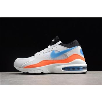Men's Nike Air Max 93 Blue Nebula White/Blue Nebula-Total Orange-Black 306551-104