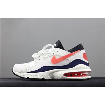 Mens Nike Air Max 93 OG Flame Red White Habanero Red Neutral Indigo Black