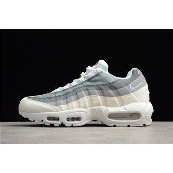Men's Nike Air Max 95 ID White Grey 818592-996