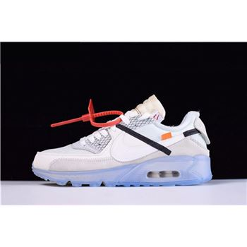 Mens and WMNS Virgil Ablohs OFF WHITE x Nike Air Max 90 Ice 10X