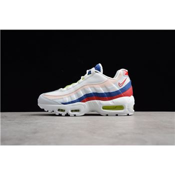 Men's and Women's Nike Air Max 95 Corduroy White Multi AQ4138-101