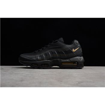 New Nike Air Max 95 Premium SE Black Metallic Gold