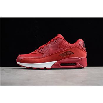 Nike Air Max 90 Essential Gym Red Black White 537384 604 Mens Shoes