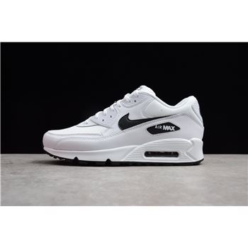 Nike Air Max 90 White Black 325213 131 Mens Running Shoes