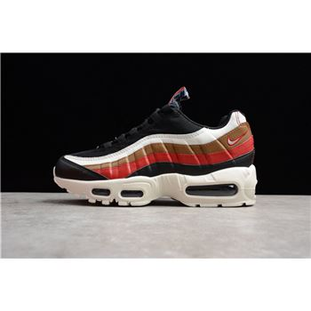Nike Air Max 95 Pull Tab Black Sail Ale Brown Gym Red