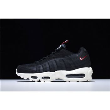 Nike Air Max 95 Pull Tab Black Sail Gym Red
