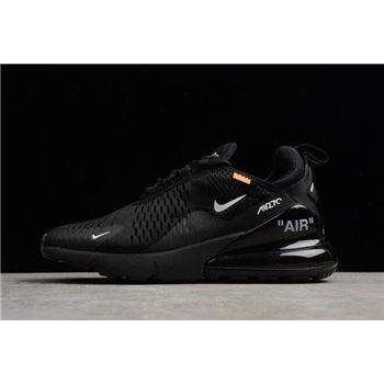 Off White x Nike Air Max 270 Black White Running Shoes