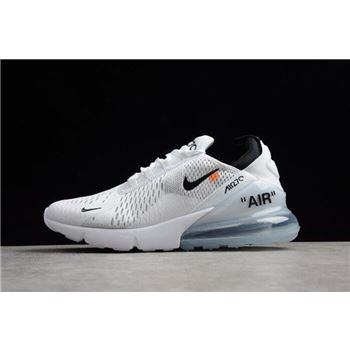 Off White x Nike Air Max 270 White Black Mens Running Shoes Free Shipping