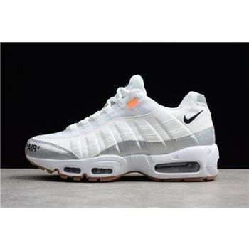 Off White x Nike Air Max 95 White Silver Mens Size
