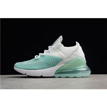 WMNS Nike Air Max 270 Flyknit Igloo White Clear Emerald Black
