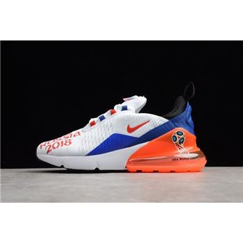 WMNS Nike Max 270 FIFA World Cup Russia 2018 White Racer Blue Unvrsty Red
