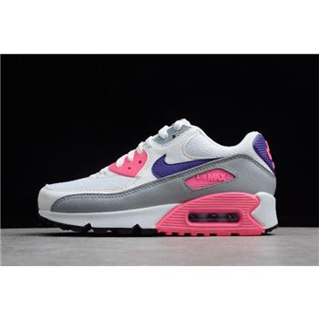 WMNS Nike Max 90 Essential Laser Pink White/Court Purple-Wolf Grey-Laser Pink 325213-136