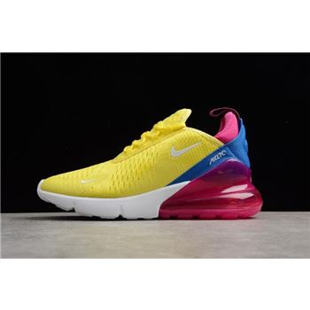 Womens Nike Air Max 270 Bright Lemon Yellow White Racer Blue