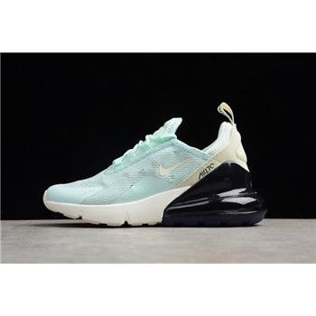 Womens Nike Air Max 270 Mint Green Black White Running Shoes