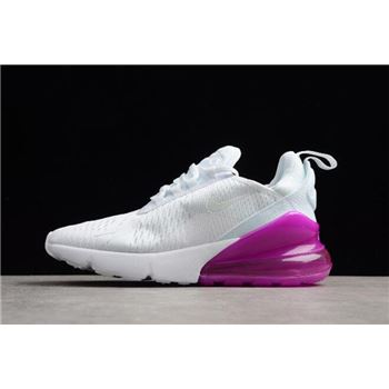 Women's Nike Air Max 270 White/Purple Running Shoes Free Shipping