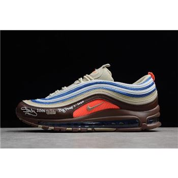 Eminem x Nike Air Max 97 OG QS Shady Records Khaki Borland Brown 884421-905