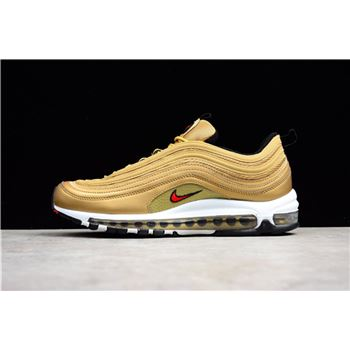 Latest Nike Air Max 97 OG Metallic Gold Varsity Red White Black
