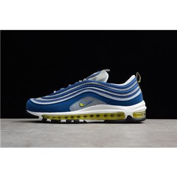 Men's Nike Air Max 97 Atlantic Blue/Metallic Silver/White/Voltage Yellow 921826-401