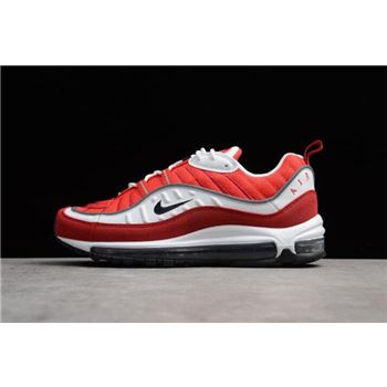 Mens Nike Air Max 98 OG White Black Gym Red Reflect Silver