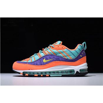 Mens and Womens Nike Air Max 98 QS Cone Tour Yellow Hyper Grape