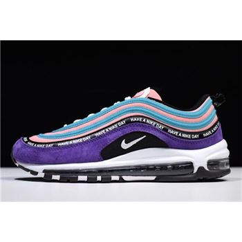 nike womens seahawks running shoes boots 97 Have a Nike Day Purple Green Pink White Black BQ9130-400