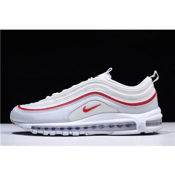 Nike Air Max 97 OG Pure Platinum White University Red